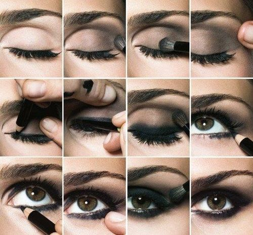 нанесение мэйка Smoky eyes